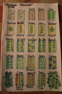 Garden plan layout