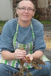 Jean Smith in her garden